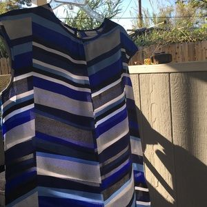 Liz Claiborne blue silk blouse